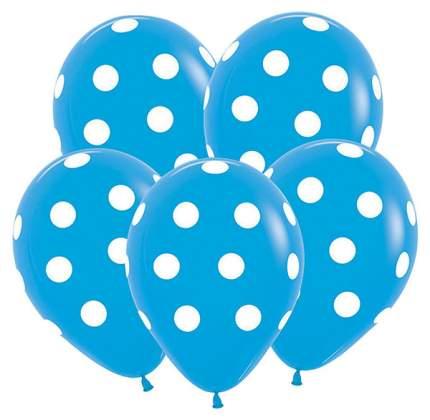 """Шар латексный 12"""" """"Большие кружки"""", пастель, набор 12 шт., цвет голубой Semper"""
