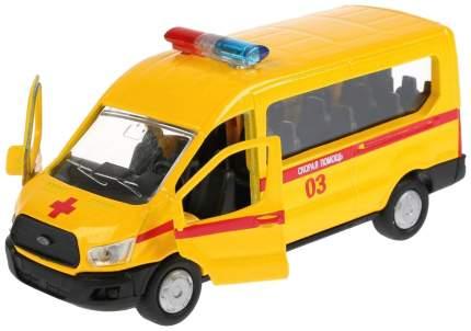 Машина Скорая Ford Transit, 12 см, инерционная, металлическая Технопарк