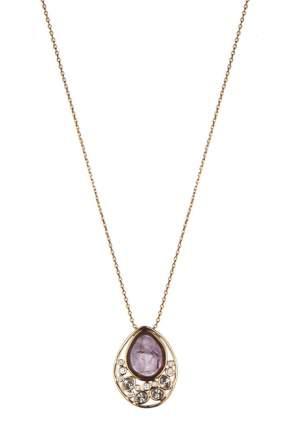 Колье женское Fiore Luna 16A21NK002XU08 золотистое/фиолетовое