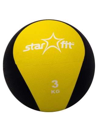 Медицинбол StarFit Pro GB-702 3 кг желтый/черный