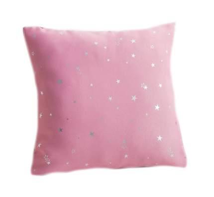 Подушка декоративная Крошка Я Звезды, цвет розовый, 40×40 см