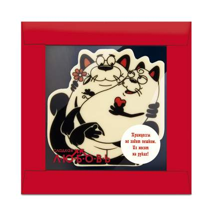 Сладкая любовь Влюбленные коты из шоколада 50 г