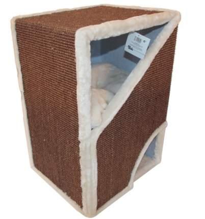 Домик для кошек Pet Choice с двумя входами, коричневый, 40x35x60 см