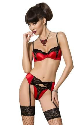 Яркий и невероятно соблазнительный комплект Polina с кружевом, красный с черным