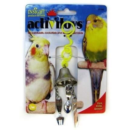 Игрушка JW Pet Fork, Knife, Spoon Toy Вилка, ножик, ложка на колокольчике для птиц