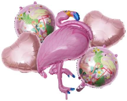 """Букет из шаров """"Фламинго"""", фольга,  набор из 5 шт. Sima-Land"""