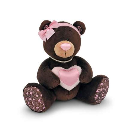 Мягкая игрушка Orange Toys Медведь choco milk с сердцем 25 см