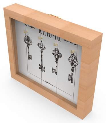 """Ключница """"Ключи 4"""" 26x22 см массив дерева, натуральный Дубравия KD-041-006"""