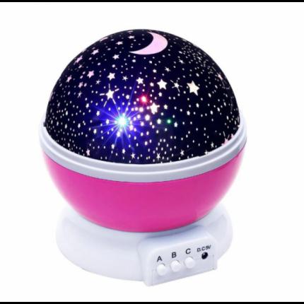 Детский ночник звездного неба Star Master Dream Rotating , розовый