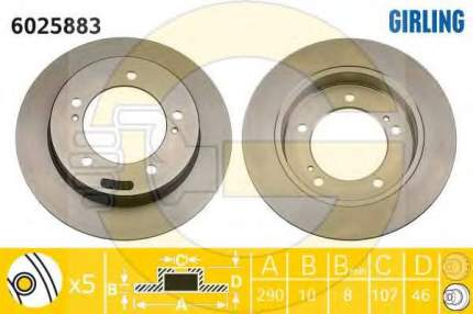 Тормозной диск GIRLING 6025883