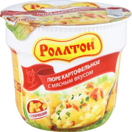 Пюре картофельное быстрого приготовления Роллтон с мясным вкусом с сухариками 40 г