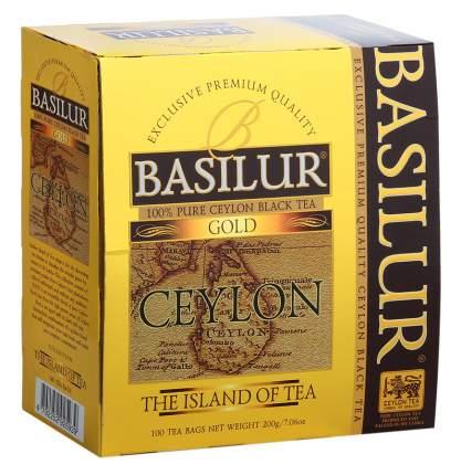 Чай черный Basilur чайный остров цейлонский байховый мелколистовой 100 пакетиков