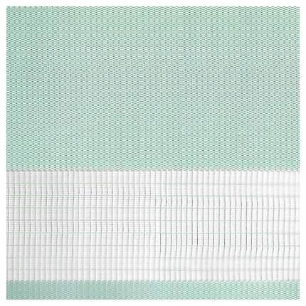 Рулонная штора Эскар День-Ночь 170х65 цвет мятный