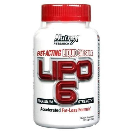 Жиросжигатель Nutrex Lipo 6, 120 капсул