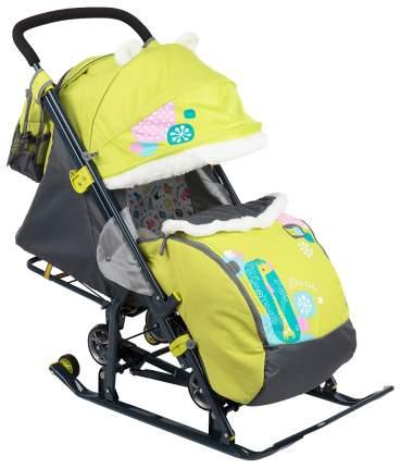 Cанки-коляска Nika Детям 7-2 Коллаж-жираф, лимонные
