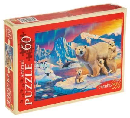 Пазл Рыжий кот Белые медведи П60-5913