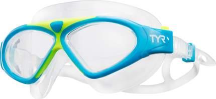 Очки-полумаска для плавания TYR Adult Magna Swimmask голубые/желтые/прозрачные (465)