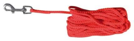Поводок для собак Trixie тросовый, нейлоновый, 5  м х 5 мм, Красный