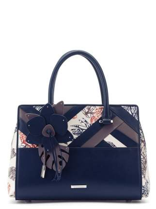 Сумка женская кожаная Eleganzza Z5743-5300 синяя/разноцветная