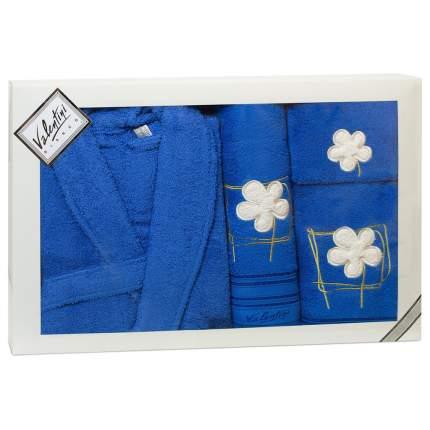 Набор халат+3 полотенца VALENTINI арт,Flower 2 1119/103 L