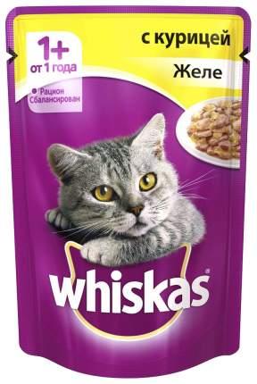 Влажный корм для кошек Whiskas Желе с курицей, 24шт, 85 г