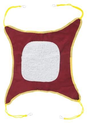 Гамак для хорьков и грызунов Triol плюш, текстиль 40x40см бежевый, коричневый, красный