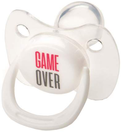 Соска-пустышка Happy Baby Pacifier ортодонтической формы с колпачком White
