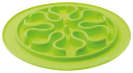 Интерактивная миска для собак V.I.Pet, силикон, зеленый