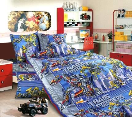Комплект Детского постельного белья Трансформеры 1,5 спальный бязь