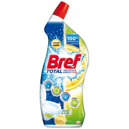 Гель Bref total чистота и блеск лимон и лайм для туалета 700 мл