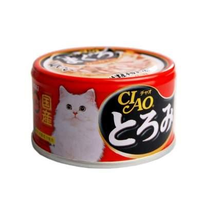Консервы для кошек CIAO, камчатский краб с мраморной вырезкой тунца, 80г
