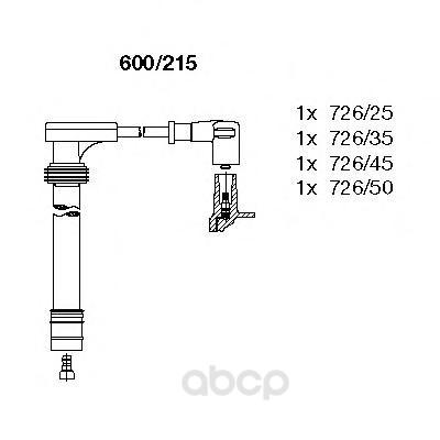 Комплект высоковольтных проводов BREMI 600215