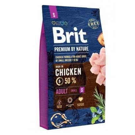 Сухой корм для собак Brit Premium By Nature Adult S, для мелких пород, курица, 3кг
