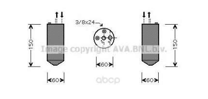 Осушитель кондиционера Ava без клапана для Nissan Primera 1.6i 1996-2001 DND236