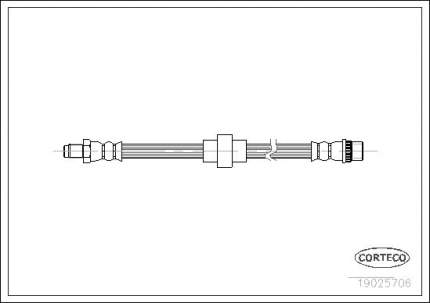 Шланг тормозной CORTECO 19025706