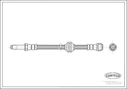 Шланг тормозной CORTECO 19035284