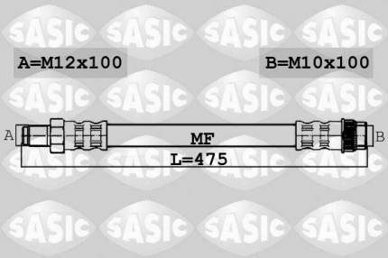 Шланг тормозной SASIC 6604027