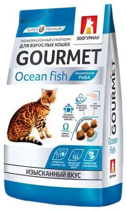 Сухой корм для кошек ЗООГУРМАН Gourmet, океаническая рыба, 0,35кг