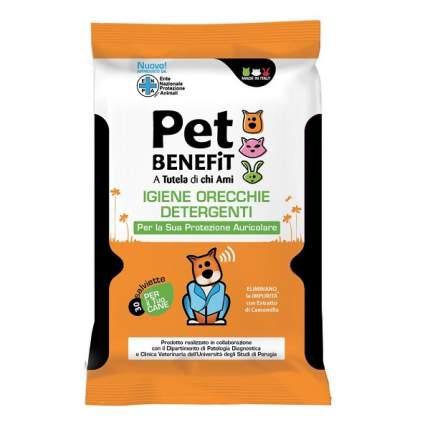 Очищающие влажные салфетки Pet Benefit для ухода за ушками животных, 36 шт/упак