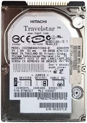 Внутренний жесткий диск HGST Travelstar 40GN 40GB (IC25N040ATCS04-0)