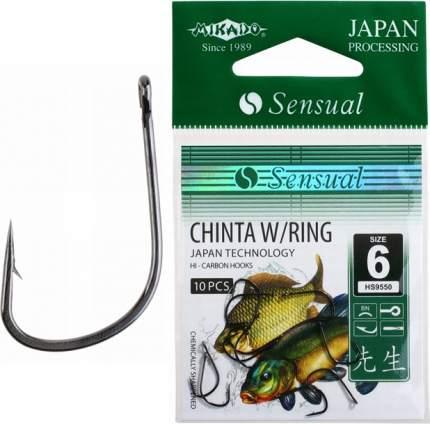 Рыболовные крючки Mikado Sensual Chinta W/Ring №6, 10 шт.