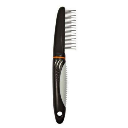 Расческа для животных TRIXIE с переменным крутящимся зубом и пластиковой ручкой 22см