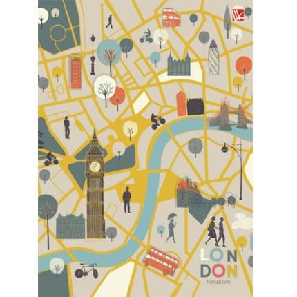 """Книга для записей """"Карта Лондона"""" А5-, 80л"""