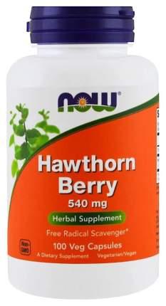Для сердца и сосудов NOW Hawthorn Berry 540 мг 100 капсул