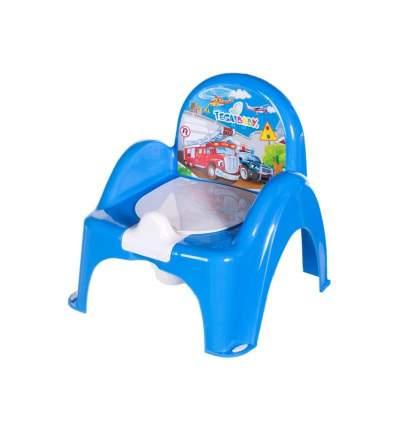 """ТЕГА, ГОРШОК-стульчик """"Машины"""", синий"""