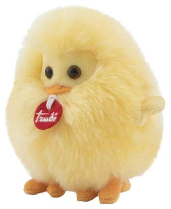 Мягкая игрушка птица Trudi Цыпленок-пушистик на веревочке 10 см