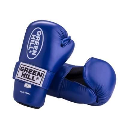 Накладки для карате Green Hill 7-contact SCG-2048c/а, к/з, синие (M)
