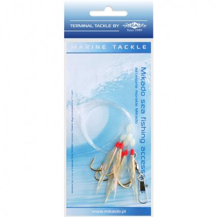 Система поводков для морской рыбалки Mikado Fish Skin Rig №04, крючки №4