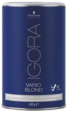 Порошок для обесцвечивания волос Schwarzkopf NEW Igora Vario Blond Super Plus 450 г