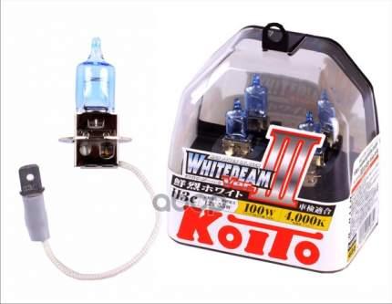 Лампа галогенная Koito H3 Whitebeam 4000K 12V 55W (100W), эффект ксенона, 2 шт, P0752W